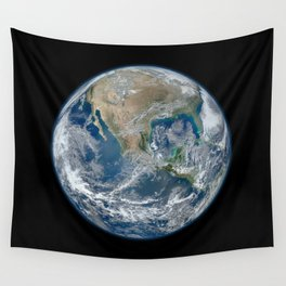 Planet Earth from Above Wall Tapestry