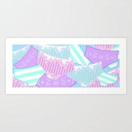 Pastel Panty Attack! Art Print