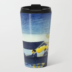 Wasen at Night - Vintage Japanese Art Metal Travel Mug