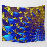 fractal Wall Tapestries featuring Fractal. by Assiyam
