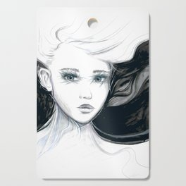 Girl Artwork | Black & White Cutting Board