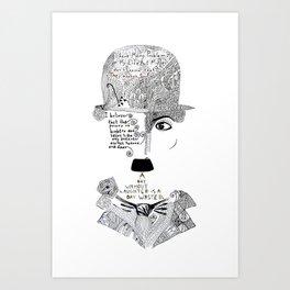 C. Chaplin Art Print