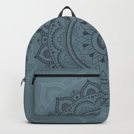 Mandala Watercolor Sketchy, Mandala Yoga, Green Backpack
