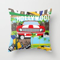 hollywood Throw Pillows featuring Hollywood by Laia Kaie