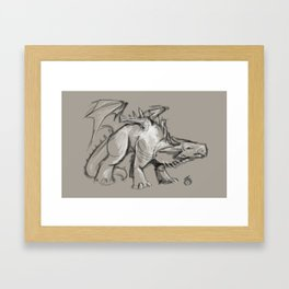 Dragon Sketch Framed Art Print