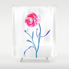 One Flower - Study 2. Front Shower Curtain