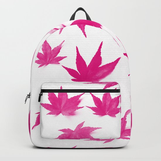 Pink Autumn Leaves Pattern #1 #decor #art #society6 Backpack