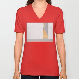 vector Illustration minimal architecture space A Unisex V-Neck