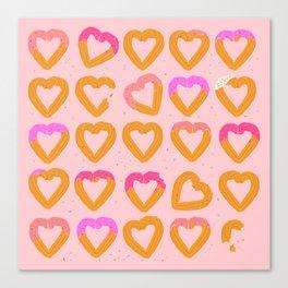 Churro Hearts Canvas Print