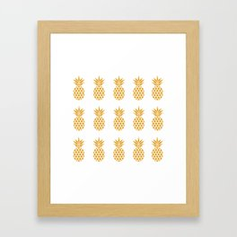 Golden Pineapples Framed Art Print
