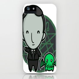 HP Lovecraft and Friend iPhone Case