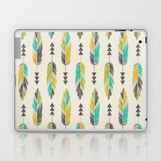 Painted Feathers in a Row-Cream Laptop & iPad Skin