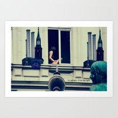 Berlin is calling the light Art Print