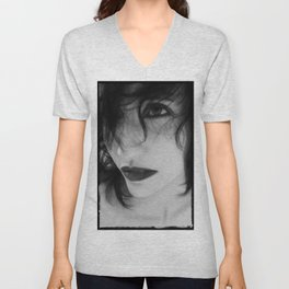 The Realm In-between - Self Portrait Unisex V-Neck
