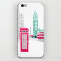 london iPhone & iPod Skins featuring London  by bluebutton studio