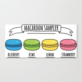 Rainbow Macaroon Sampler Canvas Print
