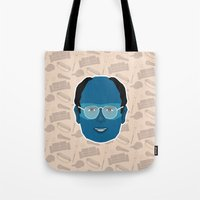 seinfeld Tote Bags featuring George Costanza - Seinfeld by Kuki
