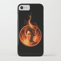 mockingjay iPhone & iPod Cases featuring THE MOCKINGJAY by John Aslarona