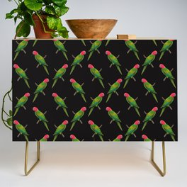 Parrot Pattern Credenza
