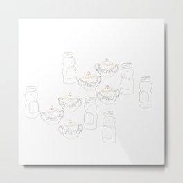 Honey bear and sugar bowl Metal Print