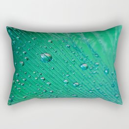 Emerald Feather Rectangular Pillow