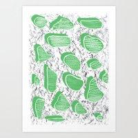 Stones Art Print