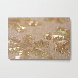 Snowflake Holiday Photography Metal Print