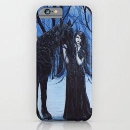 Midnight Travelers Gothic Fairy and Unicorn iPhone Case