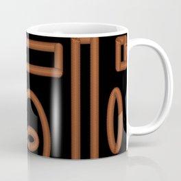Black and Gold Chainmail Design Coffee Mug