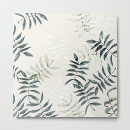 bigger leaves solo pattern Metal Print