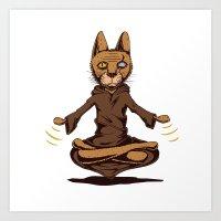 Jedi cat Art Print