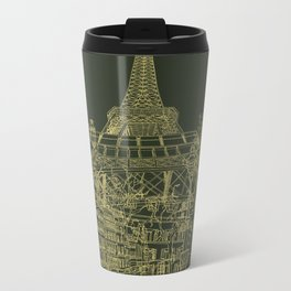 Paris! Olive Metal Travel Mug