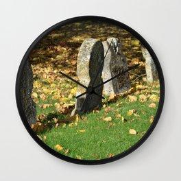 Autumnal Gravestones Wall Clock