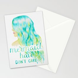 Mermaid Hair, Don't Care Stationery Cards