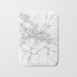 Florence Map White Bath Mat