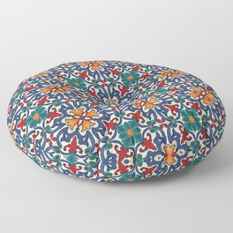 Colorful Azulejos Pattern Floor Pillow