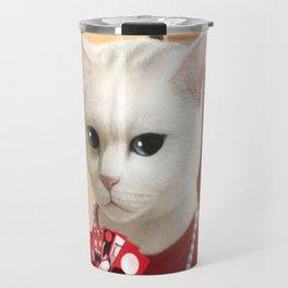 Gambler Cat Travel Mug