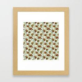 Red Panda Pattern Framed Art Print