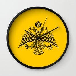 flag of the Greek Orthodox Church Wall Clock