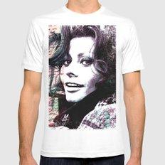 Sophia Loren White Mens Fitted Tee MEDIUM