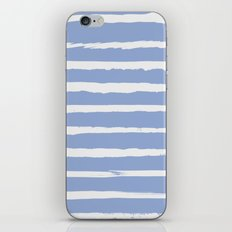 Irregular Hand Painted Stripes Light Blue iPhone & iPod Skin