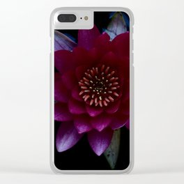 Water Lilly Clear iPhone Case