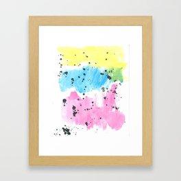Brushstrokes clouds Framed Art Print