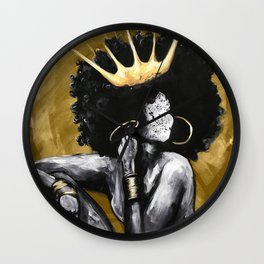 Naturally Queen VI GOLD Wall Clock