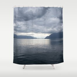Cloudy Day by The Lake #decor #society6 #buyart Shower Curtain