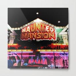 Carnival Haunted Mansion Metal Print