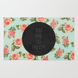 YOU ARE SO PRETTY - FLORAL Rug
