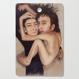 John and Yoko Cutting Board