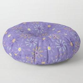 Flower Bloom Petals Vector Pattern Floor Pillow