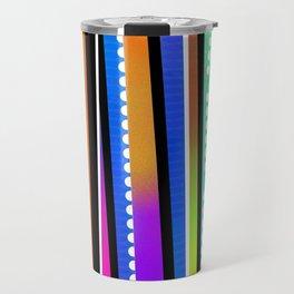 Rainbow lines Travel Mug
